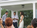 Wedding on the Deck at Thinkers Lodge