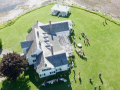 Aerial Photo of Wedding at Thinkers Lodge - August 2015